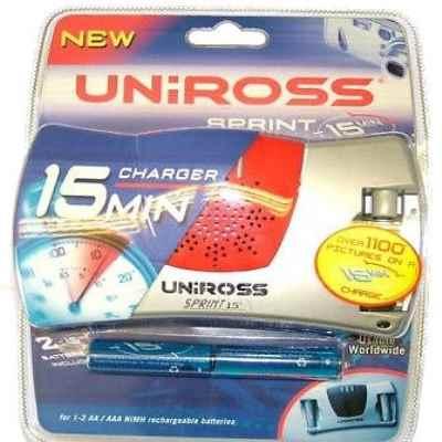 UNIROSS SPRINT 15 MIN CHARGER & 2 X AA 2100MA