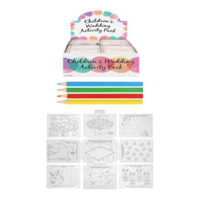 WEDDING ACTIVITY PACK CHILDREN X 36