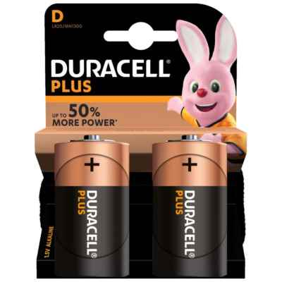 DURACELL D - MN1300 PLUS 2 PACK