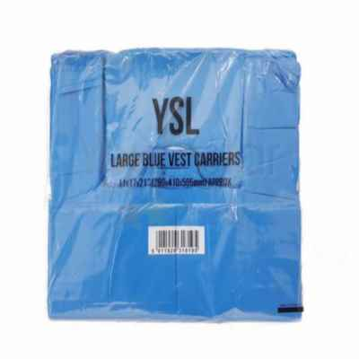 YSL LARGE HD BLUE CARRIER BAGS APPROX 850