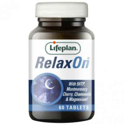 RELAXON WITH 5HTP LIFEPLAN X 60 TABLETS