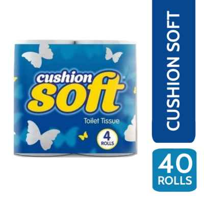 CUSHION SOFT T/T 2PLY 4 ROLL X 10 WHITE