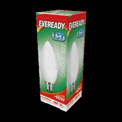 EVEREADY LED CANDLE 5.2W B22 COOL WHITE
