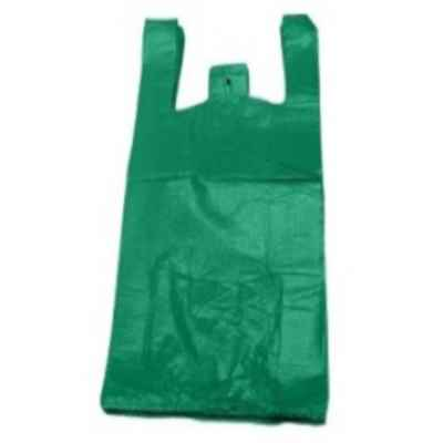 BIRCH LARGE HD GREEN HDPE CARRIER BAGS APPROX