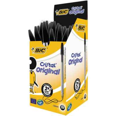 BIC CRYSTAL BALL PEN (BLACK) 50S