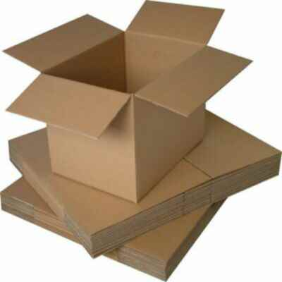 BROWN SMALL PARCEL BOX 9 X 6 X 6 INCH