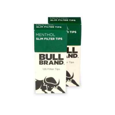 BULLBRAND EXTRA SLIM MENTHOL TIPS 126s X 2