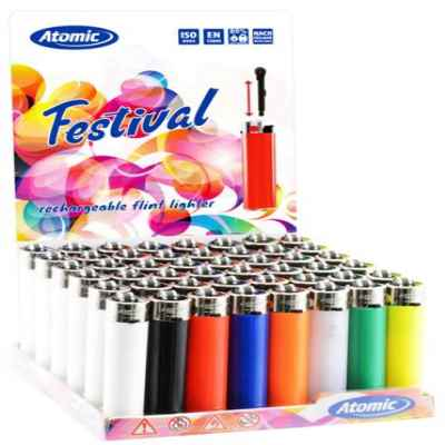 ATOMIC SOLID COLOR REFILL LIGHTER 48S