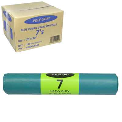 BLUE RUBBLE SACKS 7S PER ROLL X 20