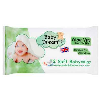 BABY DREAM ALOE VERA BABY WIPES 72S