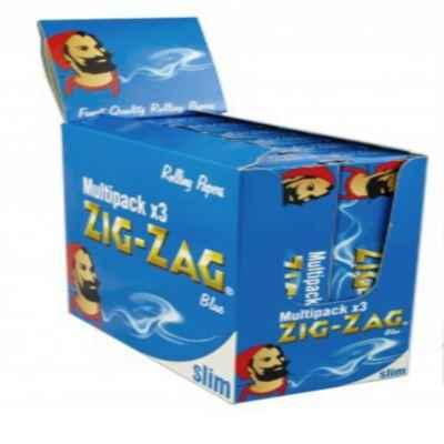 ZIG ZAG BLUE K/S MULTIPACK 3S X 12