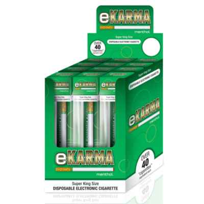 EKARMA DISPOSABLE ELEC CIGARETTE - MENTHOL