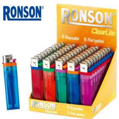 RONSON CLEARLITE DISPOSABLE LIGHTER 50S