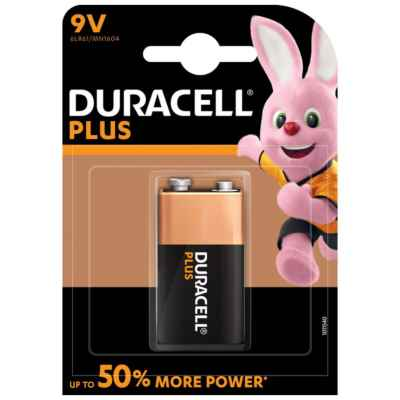 DURACELL 9V - MN1604 PLUS 1 PACK