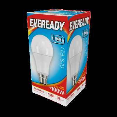 EVEREADY LED GLS 13.2W B22 COOL WHITE