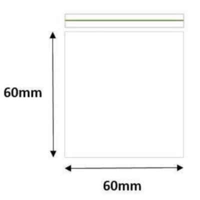 GRIP SEAL BAGS 60 X 60 MM 1000S