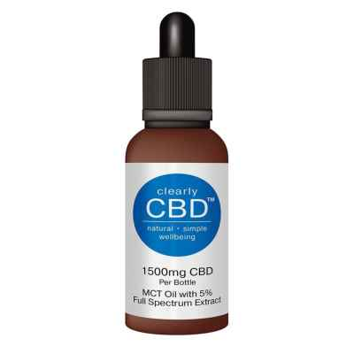 CLEARLY CBD 1500MG MCT OIL 30ML FOOD SUPP (RR