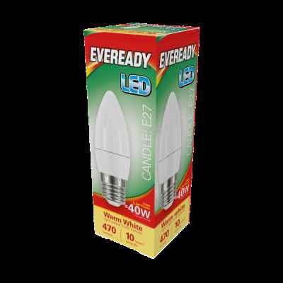 EVEREADY LED CANDLE 5.2W E27 WARM WHITE