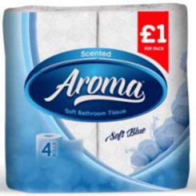 AROMA PERFUMED T/T 2PLY 4 ROLL X 10 BLUE PM?1