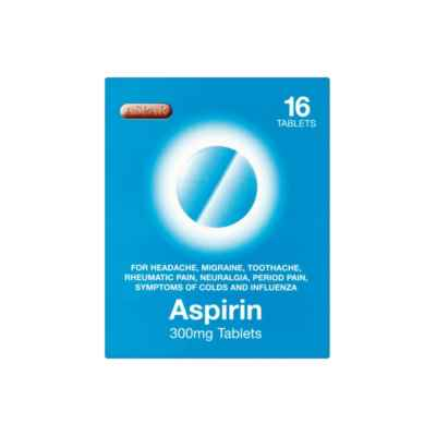 ASPIRIN 300MG TABLETS 16S X 12 BOXED