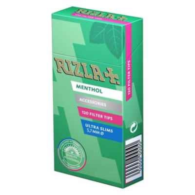RIZLA MENTHOL ULTRA SLIM FILTER TIPS 20S
