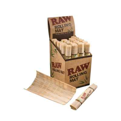 RAW BAMBOO ROLLING MAT SMALL X 24