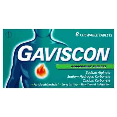 GAVISCON TABLETS PEPPERMINT 8S X 12