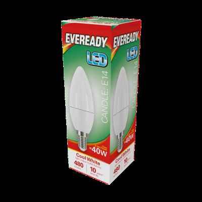 EVEREADY LED CANDLE 5.2W E14 COOL WHITE