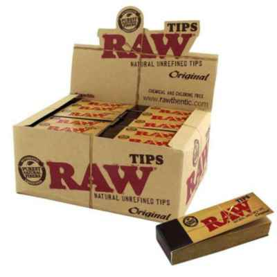 RAW ROLLING PAPER TIPS / ROACHES 50S