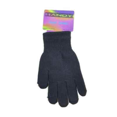 HANDY MAGIC GLOVES BLACK ONE SIZE PACK OF 12