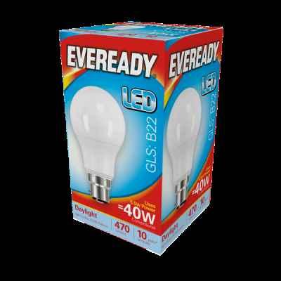 EVEREADY LED GLS 5.5W B22 DAYLIGHT