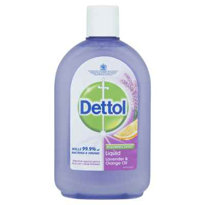 DETTOL DISINFECTANT LAVENDER & ORANGE 500ML X
