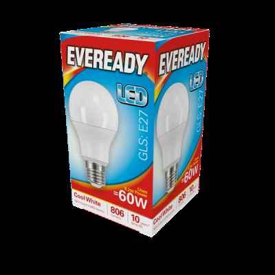 EVEREADY LED GLS 8.2W E27 COOL WHITE