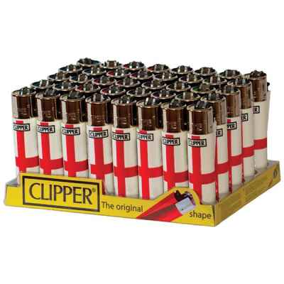 CLIPPER LARGE ENGLAND FLAG DESIGN LIGHTER 40S