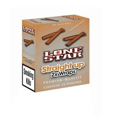 LONESTAR BLUNTS STRAIGHT UP 2S X 25