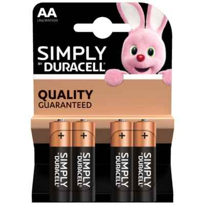 DURACELL SIMPLY AA - MN1500 4 PACK