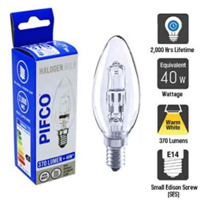 PIFCO CANDLE E14/SES 28W(40W) ECO HALOGEN