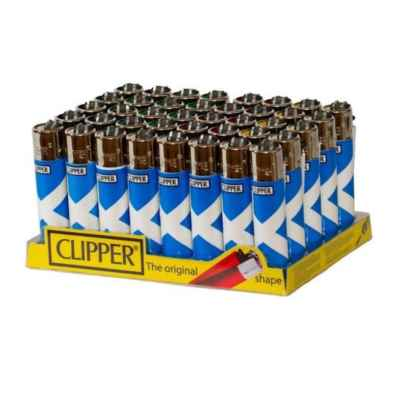 CLIPPER LARGE SCOTLAND FLAG DESIGN LIGHTER 40