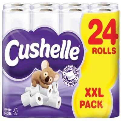 CUSHELLE TOILET TISSUE  WHITE 24PK