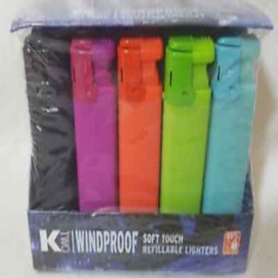KTWO WINDPROOF REFILLABLE LIGHTER X 20