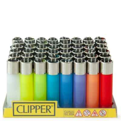 CLIPPER TRANSLUCENT LARGE LIGHTERS 40S