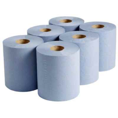 BLUE 195MM CONTRACT ROLL 150M X 6
