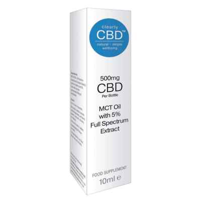 CLEARLY CBD 500MG MCT OIL 10ML FOOD SUPP (RRP