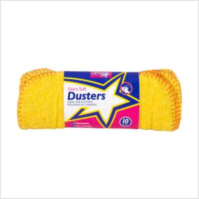 DUSTERS YELLOW 10PK