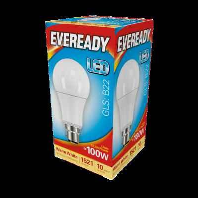 EVEREADY LED GLS 13.2W B22 WARM WHITE
