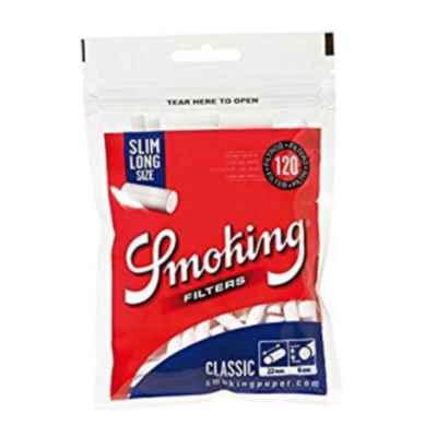 SMOKING SLIM LONG FILTERS 120S X 30