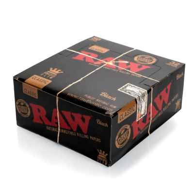 RAW BLACK KING SIZE SLIM 50S