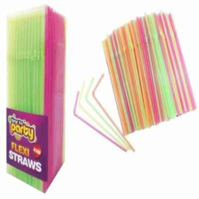 STRAWS FLEXIBLE PLASTIC 225PK