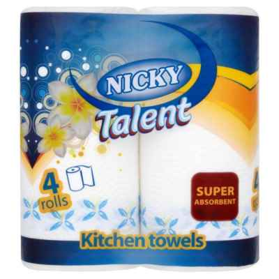 NICKY TALENT KITCHEN TOWEL 2PLY 4 ROLL X 6