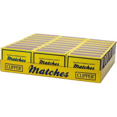 CLIPPER HOUSEHOLD SAFETY MATCHES 120S  X 24